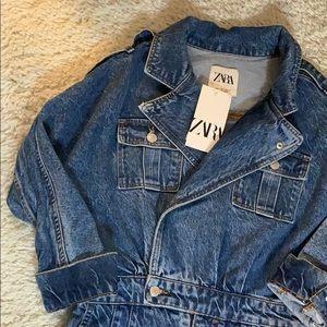 Zara 80s Jumpsuit In Arizona Blue